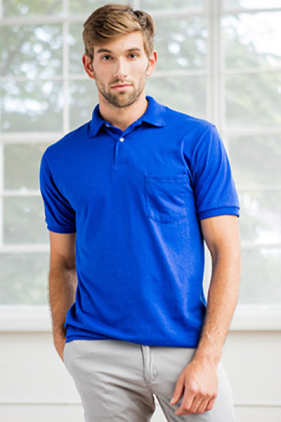 Hanes® EcoSmart® Blended Sport Shirt with Pocket