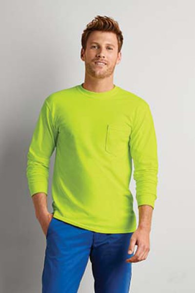 Gildan Ultra Cotton Adult Long Sleeve T-Shirt with Pocket