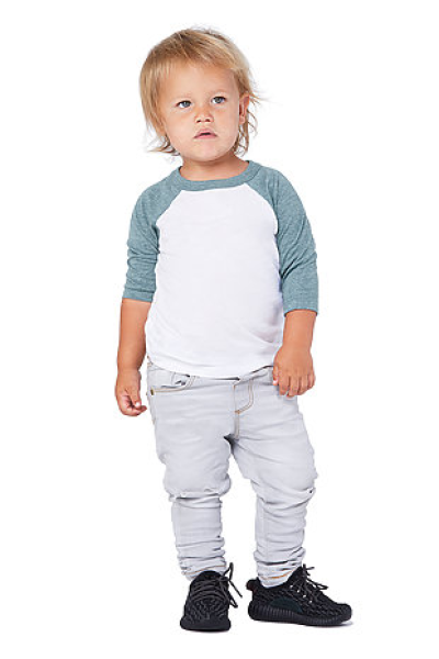 BELLA+CANVAS Toddler Sleeve Baseball Tee