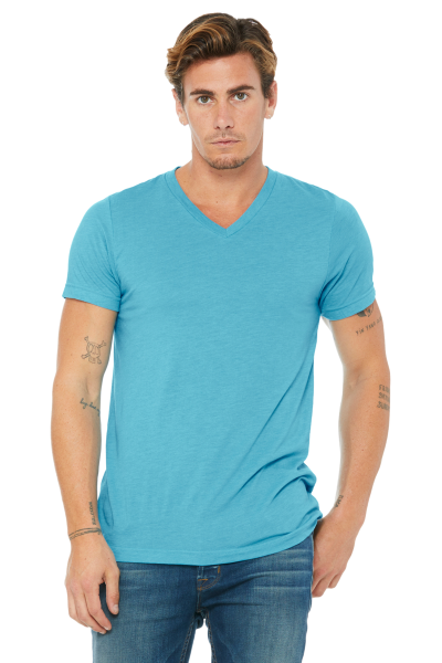 BELLA+CANVAS Unisex Triblend Short Sleeve V-Neck Tee