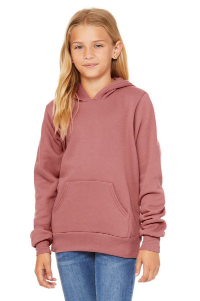 BELLA+CANVAS Unisex Youth Sponge Fleece Pullover Hood