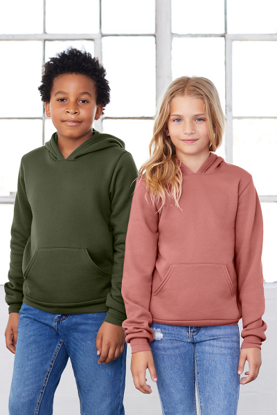 BELLA+CANVAS Youth Sponge Fleece Pullover Hoodie