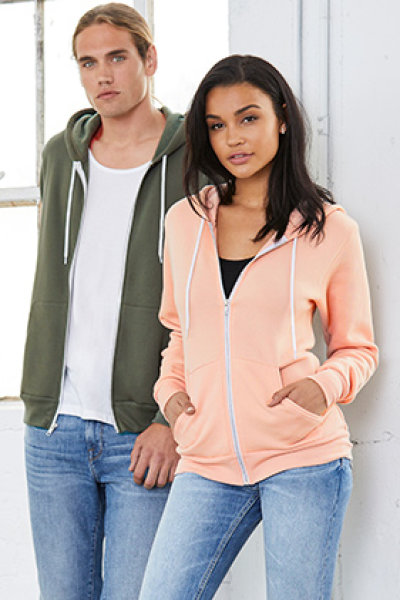 BELLA + CANVAS Unisex Poly-Cotton Full-Zip Hoodie