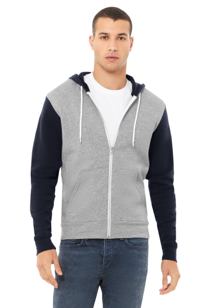 BELLA+CANVAS Unisex Full Zip Hood Sponge Fleece