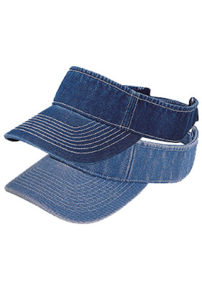Mega Cap Washed Denim Visor