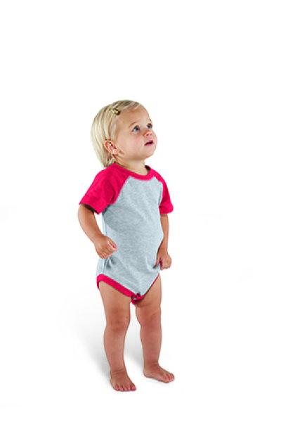 Rabbit Skins® Infant Vintage Fine Jersey Baseball Bodysuit