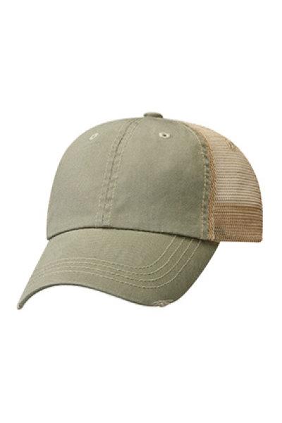 Mega Cap Organic Cotton Mesh Cap with Frayed Visor