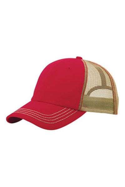 Mega Cap Washed Cotton Twill Trucker