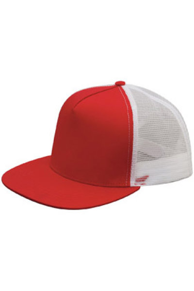 Mega Cap Five-panel Flat Bill Trucker