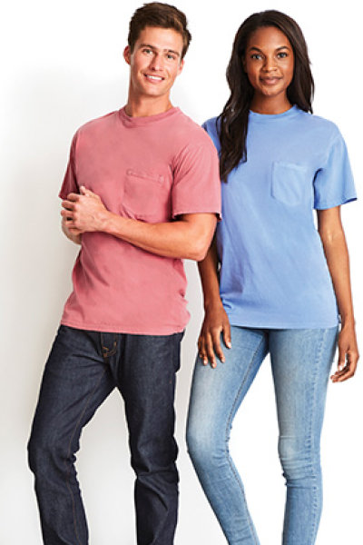 Next Level Apparel Inspired Dye Pocket Crew