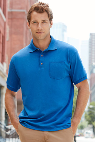 Gildan DryBlend Adult Jersey Sport Shirt with Pocket