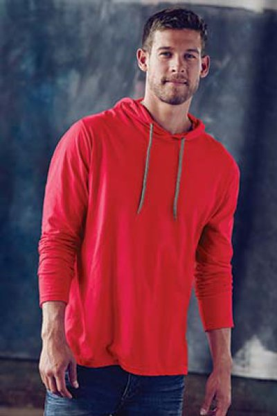 ANVIL® Adult Lightweight Long Sleeve Hooded Tee