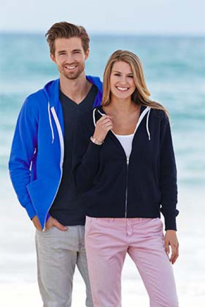 Independent Trading Company Unisex Zippered Hoodie