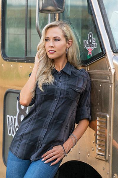 Burnside® Ladies Western Plaid Long Sleeve
