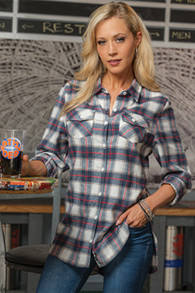 Burnside® Ladies Woven Plaid Flannel