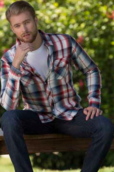 Burnside® Plaid Pattern Long Sleeve