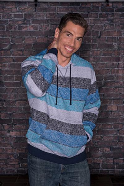 Burnside® Printed Striped Marl Pullover