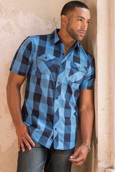 Burnside® Buffalo Plaid Woven Short Sleeve Shirt