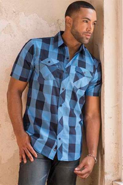 Burnside® Buffalo Plaid Woven Short Sleeve Shirt
