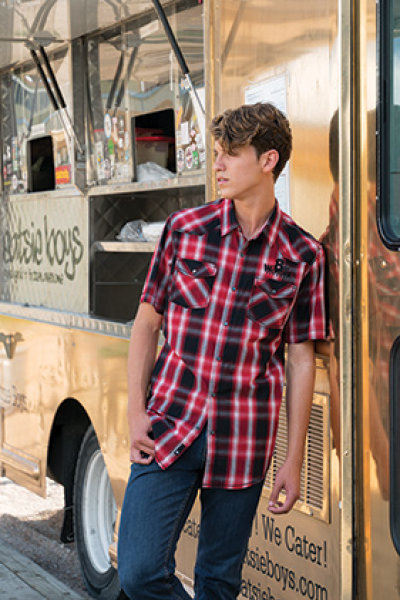Burnside® Western Plaid Short Sleeve