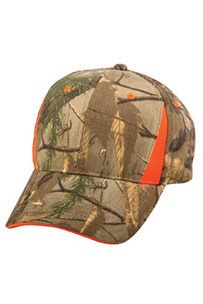 Outdoor Cap Camo with Blaze Trim