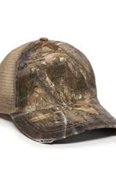 Outdoor Cap  Camo Oil-stained Mesh