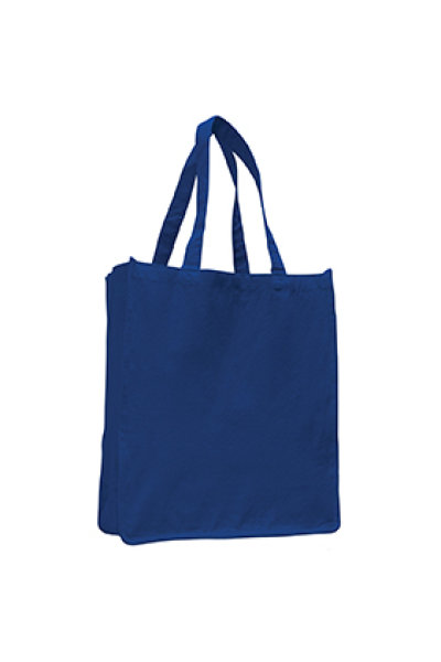 Q-TEES Canvas Gusseted Jumbo Shopper