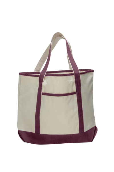 Q-TEES Small Canvas Deluxe Tote