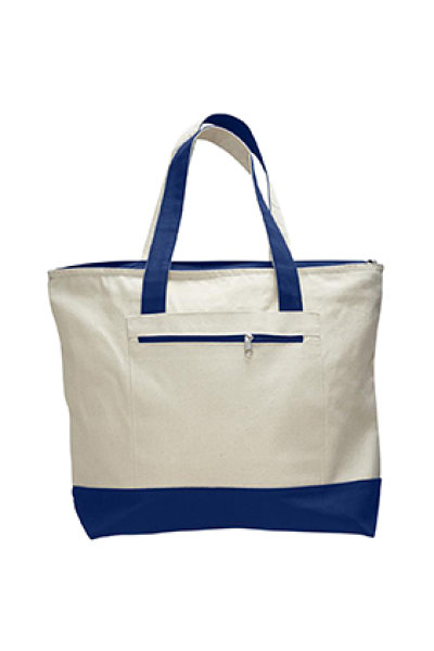 Q-TEES Zipper Tote Color Handles