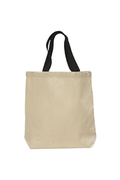 Q-TEES Canvas Tote Color Handles