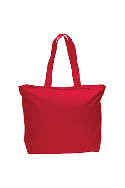 Q-TEES Canvas Zippered Tote