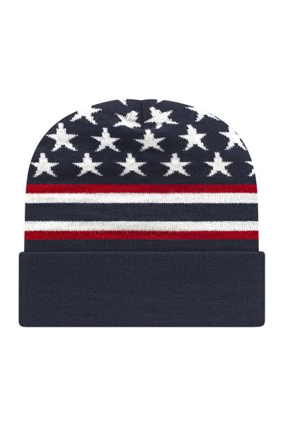 Cap America USA Made Flag Knit Cap