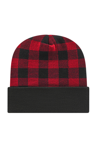 Cap America USA Made Plaid Knit with Cuff