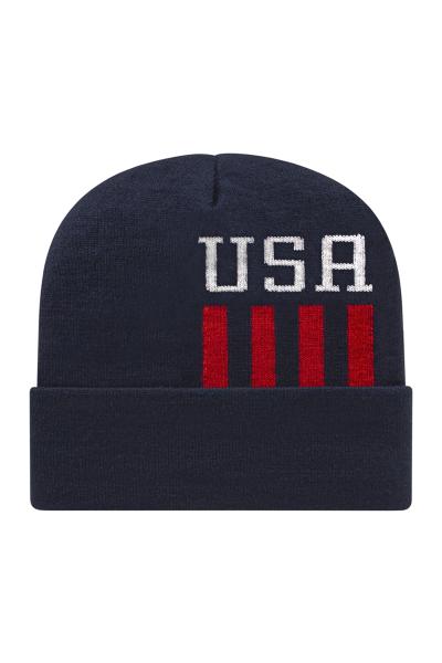Cap America USA Made Patriotic Knit Cap
