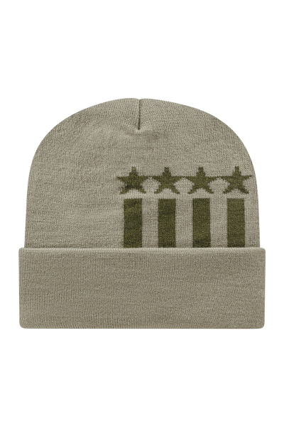 Cap America USA Made Stars and Stripes Knit Cap