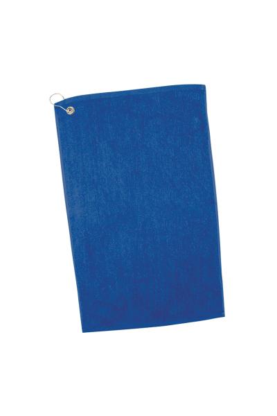 Q-TEES 16x25 100% Cotton 3.5 lb. One Side Velour Towel Grommet w/Hook
