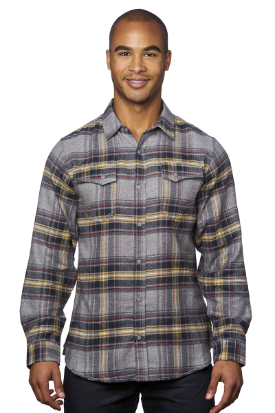 Burnside 5.4 ounce Cotton/Poly Snap Flannel