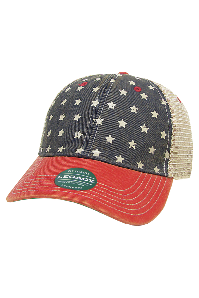 Legacy Old Favotite Trucker. Dirty washed cotton twill crown and mesh.
