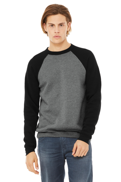 Bella+Canvas Unisex Sponge Fleece Raglan Pullover