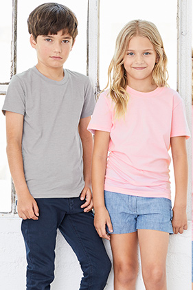 BELLA + CANVAS Youth Jersey Short Sleeve Tee