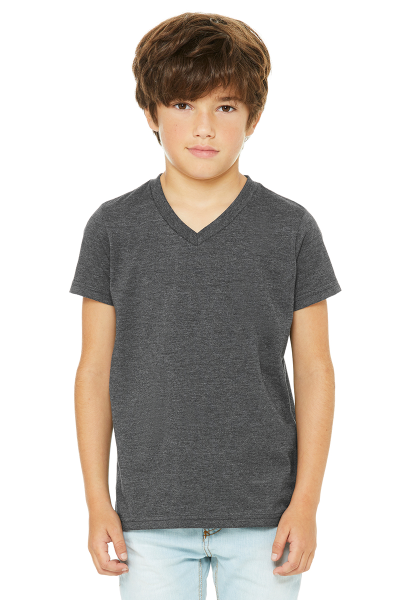BELLA+CANVAS Youth Jersey Short Sleeve V-neck Tee