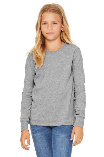 BELLA+CANVAS Youth Jersey Long Sleeve Tee
