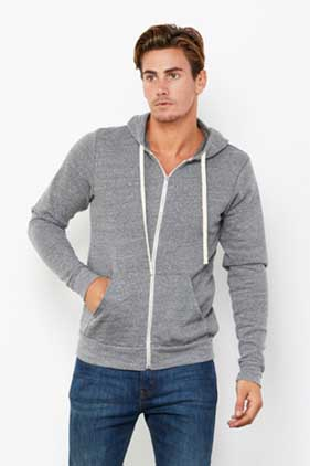 BELLA + CANVAS Unisex Triblend Full Zip Hoodie
