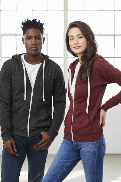 BELLA+CANVAS Unisex Triblend Full Zip Hoodie