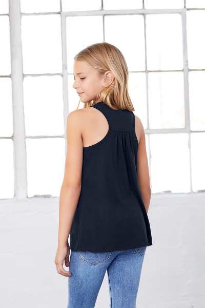 BELLA+CANVAS Youth Flowy Racerback Tank