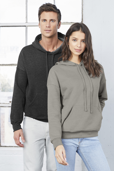 BELLA+CANVAS UNISEX SPONGE FLEECE PULLOVER DTM HOODIE