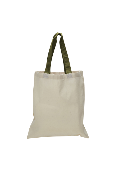Q-TEES Cotton Tote with Colored Handles