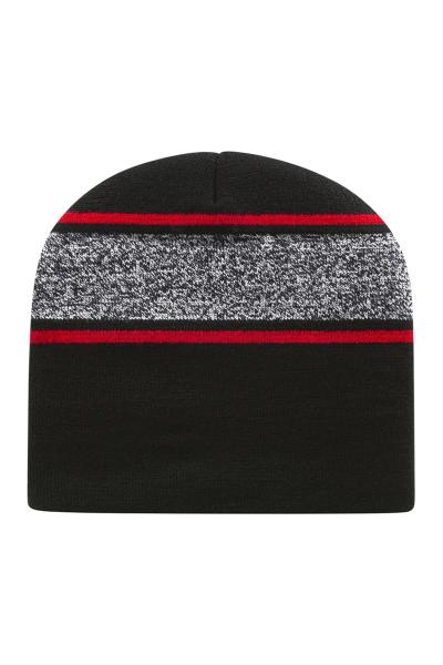 Cap America USA Made Variegated Striped Knit Beanie