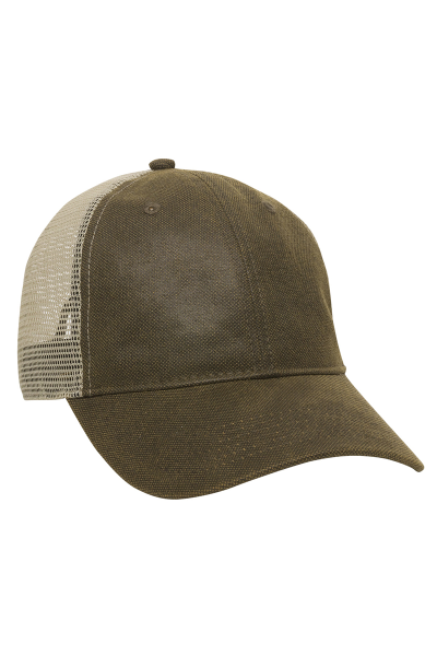 Outdoor Cap Weathered Cotton with Polyester Mesh Back Six-Panel